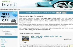 Cars for a grand Website